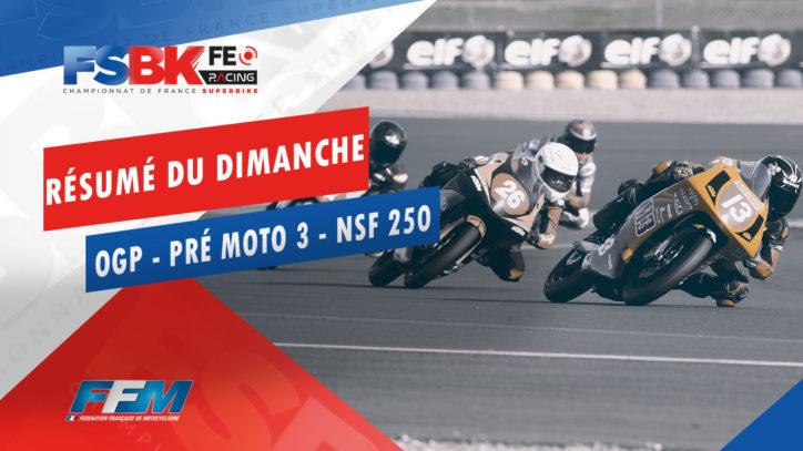 // RÉSUMÉ DU DIMANCHE OGP PRÉ MOTO 3 HONDA NSF 250 NOGARO //